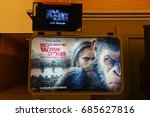 "Small photo of Bangkok, Thailand - July 10, 2017: Poster of The Movie ""War for the Planet of the Apes"" displays at the theater"