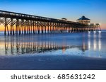 Fishing Pier Boardwalk On Foll...