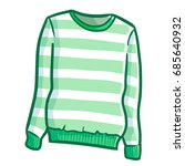 funny and cute green stripes... | Shutterstock .eps vector #685640932
