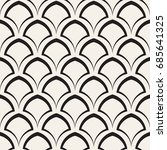 vector seamless rounded lines... | Shutterstock .eps vector #685641325