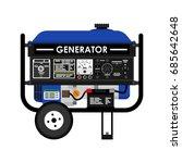 diesel generator. flat vector... | Shutterstock .eps vector #685642648