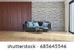 modern bright living room ...   Shutterstock . vector #685645546