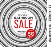 spiral shower hose with big... | Shutterstock .eps vector #685646416