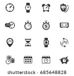 time vector icons for web and... | Shutterstock .eps vector #685648828