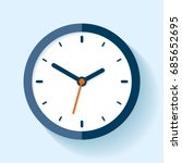 clock icon in flat style  timer ... | Shutterstock .eps vector #685652695