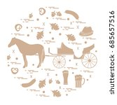 vector illustration with... | Shutterstock .eps vector #685657516