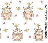 monster cartoons characters... | Shutterstock . vector #685668292