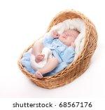 portrait of newborn baby... | Shutterstock . vector #68567176