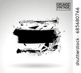 black brush stroke and texture. ... | Shutterstock .eps vector #685680766