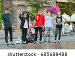 street dancers   khreshchatyk ...   Shutterstock . vector #685688488