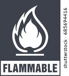 flammable symbol. fire icon.... | Shutterstock .eps vector #685694416