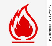 flammable symbol. fire icon.... | Shutterstock .eps vector #685694446