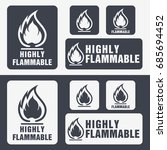 flammable symbol. fire icon.... | Shutterstock .eps vector #685694452