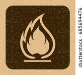 flammable symbol. fire icon.... | Shutterstock .eps vector #685694476