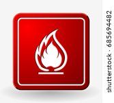 flammable symbol. fire icon.... | Shutterstock .eps vector #685694482