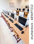 computer lab with rows of... | Shutterstock . vector #685697212