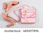 high heel sandals. sandals and... | Shutterstock . vector #685697896