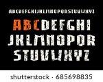 sanserif font in weightlifting... | Shutterstock .eps vector #685698835