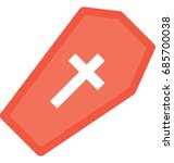 coffin vector icon  | Shutterstock .eps vector #685700038