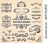 ornate vintage frames and... | Shutterstock .eps vector #685701805
