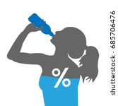 water percentage in body. ... | Shutterstock .eps vector #685706476