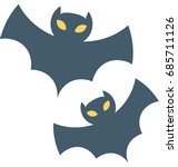 halloween bat vector icon  | Shutterstock .eps vector #685711126