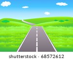 vector summer landscape with... | Shutterstock .eps vector #68572612