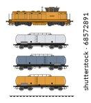 tank train vector | Shutterstock .eps vector #68572891