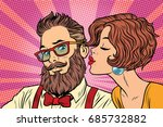 heterosexual couple  beautiful... | Shutterstock .eps vector #685732882
