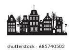 laser cutting amsterdam style... | Shutterstock .eps vector #685740502