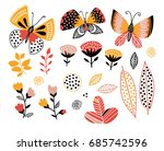 set of summer design elements.... | Shutterstock .eps vector #685742596