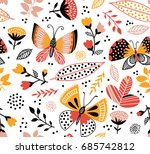 vector seamless pattern with... | Shutterstock .eps vector #685742812