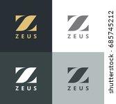 elegant letter z logo. letter... | Shutterstock .eps vector #685745212