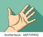 palm hand flat hand. color... | Shutterstock .eps vector #685745902