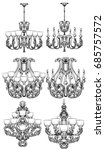 rich baroque classic chandelier ...   Shutterstock .eps vector #685757572