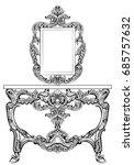 exquisite baroque dressing... | Shutterstock .eps vector #685757632