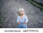 little blond child | Shutterstock . vector #685759522
