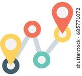 route vector icon    Shutterstock .eps vector #685771072
