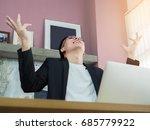 happy businessman feeling rich... | Shutterstock . vector #685779922
