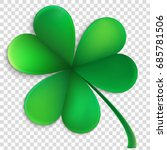 green happy clover leaf... | Shutterstock .eps vector #685781506