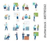 secondary school teacher at... | Shutterstock .eps vector #685785262