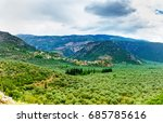 valley amfissa   is a town in... | Shutterstock . vector #685785616