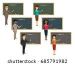 teacher on lesson in classroom. ...   Shutterstock .eps vector #685791982