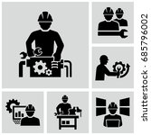 industrial work vector icons... | Shutterstock .eps vector #685796002