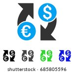 currency change flat vector... | Shutterstock .eps vector #685805596