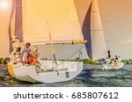 sailboat. sailing yacht race ... | Shutterstock . vector #685807612