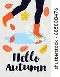 vector card   hello autumn.... | Shutterstock .eps vector #685808476