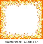 beautiful background with... | Shutterstock . vector #68581147