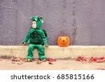 little boy in dragon costume... | Shutterstock . vector #685815166
