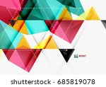 triangular low poly vector a4... | Shutterstock .eps vector #685819078